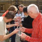 Helium Stick in use outdoors