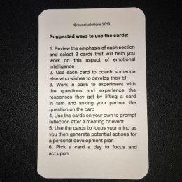 Developing Emotional Intelligence Coaching Card Suggested Uses